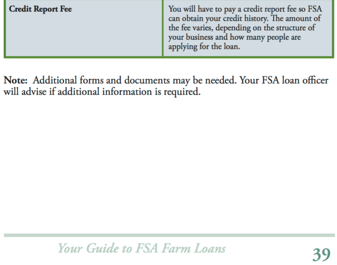 FSA Guide on Credit Report Fee