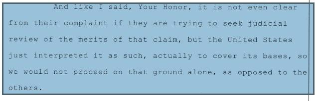More Judicial Review