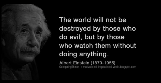 Mr. President all thats necessary for the triumph of Government evil is for those in power to donothing!