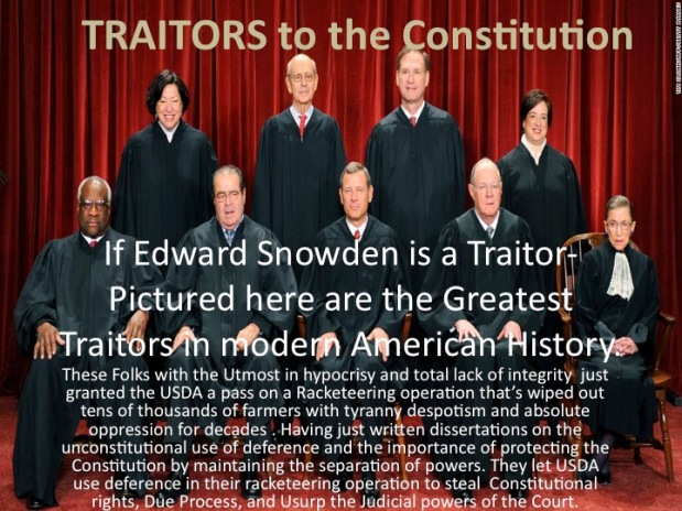 "How do you justify calling the Supreme Court Justices Traitors of ""We The People""?"