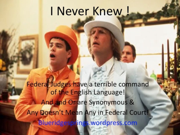 Dumb and Dumber,  Judges Don't Know English!