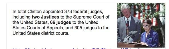 Bill Clinton Judicial Appointments.